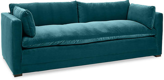 One Kings Lane Elmore Sofa - Peacock Crypton - frame, chocolate; upholstery, peacock