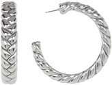 Simon Sebbag 41mm Sterling Silver Large Braided Hoop Earrings