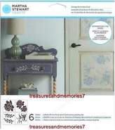 Martha Stewart Crafts Vintage Decor Stencil Set, 4 Sheets, 8 1/2x8 1/2 33558