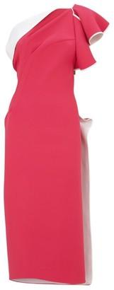Maticevski Atomised One-Shoulder Midi Dress