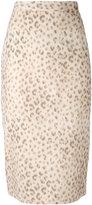 Hache leopard print skirt - women - Cotton - 40