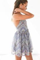 Ecote Bonita High-Neck Print Mini Dress