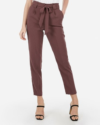 Express High Waisted Sash Tie Ankle Pant