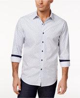 Tasso Elba Men's Mini Diamond-Print Cotton Shirt, Only at Macy's