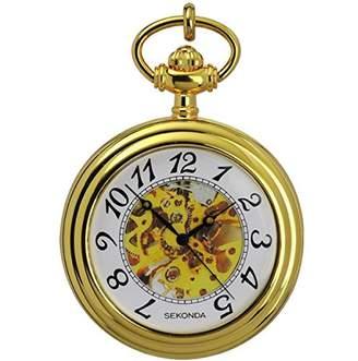 Sekonda Women's Quartz Watch with White Dial Analogue Display and Gold Bracelet 1110.3