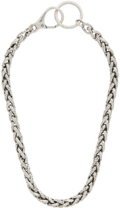 Emanuele Bicocchi Silver Hammered Chain Necklace