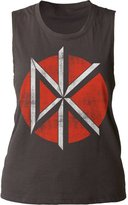 Impact Dead Kennedys Punk Rock Band Music Group Distressed Logo Juniors Muscle Tank Top