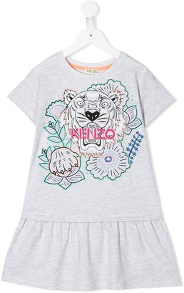 Kenzo Kids Tiger print dress