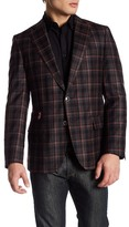 Robert Graham Plaid Print Two Button Notch Lapel Wool Sport Coat