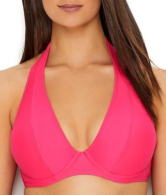 Sunsets Hot Pink Muse Halter Bikini Top