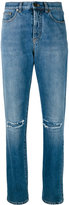 Saint Laurent slim fit knee hole jeans - women - Cotton - 29