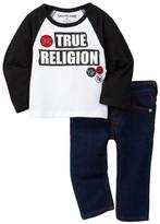 True Religion Raglan Patch Tee & Jean Set (Baby Boys)