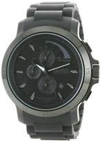 HUGO BOSS 1512393 Chronograph Black Ion Silicone Quartz Mens Watch
