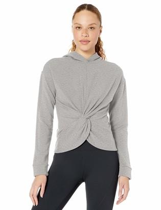 Core Products Core 10 Women's Standard Yoga CoreCloud Fleece Twist Front Hoodie Sweatshirt
