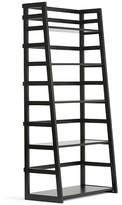 Asstd National Brand Acadian Ladder Shelf Bookcase, One Size , Black