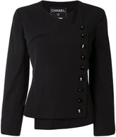 Chanel Pre Owned 2000s off-centre fastened collarless jacket
