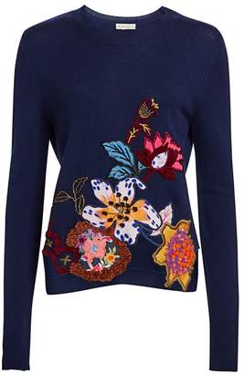 Etro Floral-Embroidered Sweater