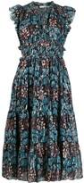 Ulla Johnson abstract print midi dress