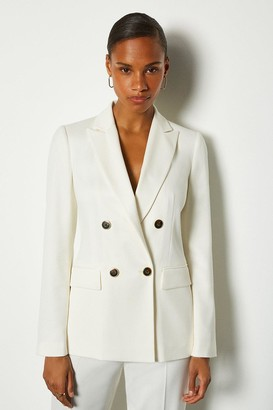 Karen Millen Double Breasted Relaxed Tailored Jacket