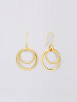 Diane von Furstenberg Gold Double Hoop Earring