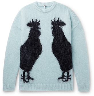 Loewe Oversized Intarsia Mohair-Blend Sweater