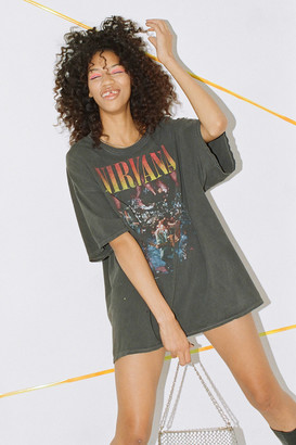 Urban Outfitters Nirvana Unplugged T-Shirt Dress