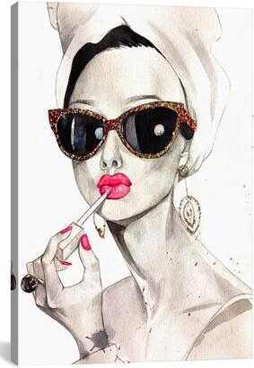 iCanvas Audrey Hepburn by Rongrong DeVoe Giclee Print Canvas Art
