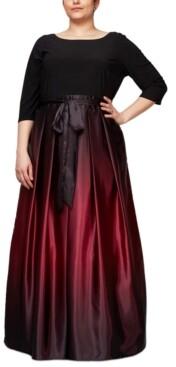 SL Fashions Plus Size Ombre Ballgown