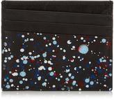 Maison Margiela Paint drop-print leather cardholder