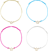 Accessorize 4x Star Friendship Bracelet Pack