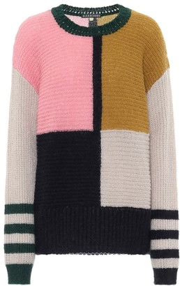 ALEXACHUNG Dora colorblock oversized sweater