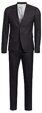 Thom Browne Men's Grosgrain Tipped Super 120s Twill Wool Tuxedo