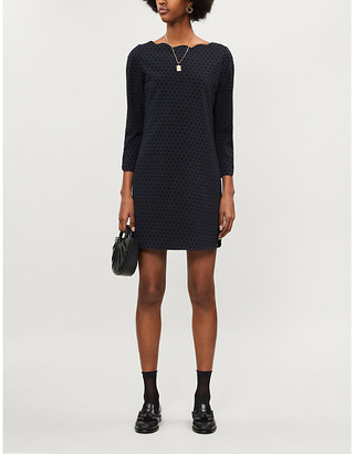 Claudie Pierlot Rover polka dot stretch-woven mini dress