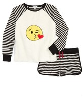 PJ Salvage Girl's Patches Two-Piece Pajamas