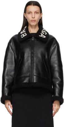 Balenciaga Black Lambskin Cocoon Jacket
