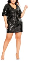 City Chic Trendy Plus Size Sequin Glow Dress