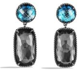 David Yurman Grisaille Earrings with Black Orchid and Hampton Blue Topaz