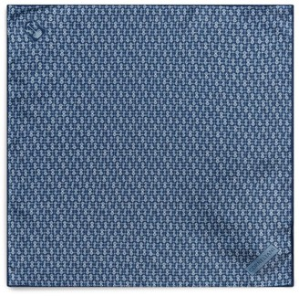 Corneliani Printed Silk Pocket Square