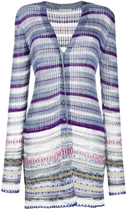 Etro Striped Glitter Detail Cardigan