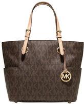 MICHAEL Michael Kors East West Signature Leather Tote Bag