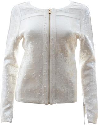 Herve Leger Ecru Glitter Jacket for Women
