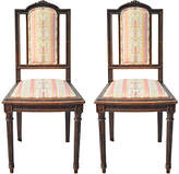 One Kings Lane Vintage French Louis XVI-Style Chairs - Set of 2 - Chez Marie Antiques - pink/multi