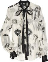 D & G Printed silk-chiffon blouse