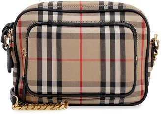 Burberry Checkered Canvas Camera Bag