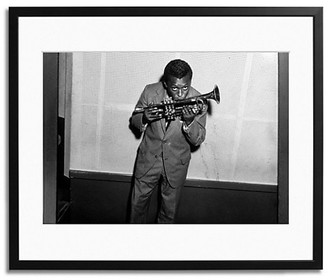 Sonic Editions Miles Davis and his Trumpet Framed Photo