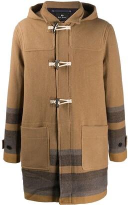Paul Smith Striped Hem Duffle Coat