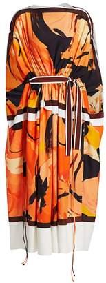 Proenza Schouler Marocaine Long Sleeve Midi Kaftan Dress