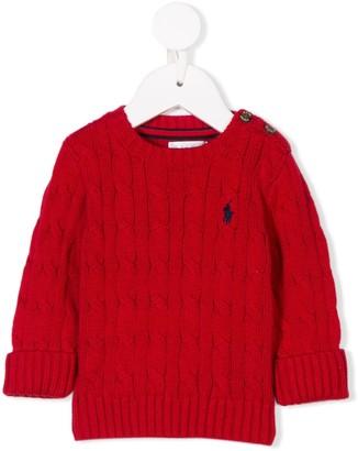 Ralph Lauren Kids Cable-Knit Jumper