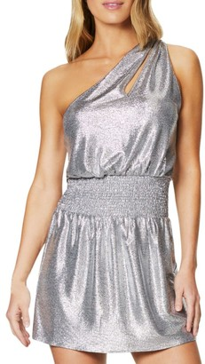 Ramy Brook Nadya Metallic Mini Dress
