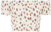 Topshop PETITE Shirred Floral Bardot Top